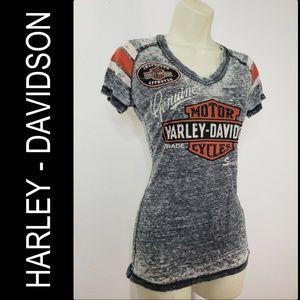 Harley Davidson Women's Rhinestone T Shirt Size XS